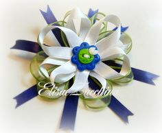 Handmade hair clip with polymer clay button by www.elisaezucchina.blogspot.it