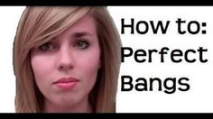 How to : Perfect Side Swept Bangs and Volume Tutorial, via YouTube.