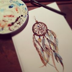 Dream catcher! I wish I could draw that well...