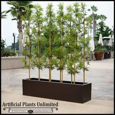 Mind Blowing Tricks: Artificial Plants Office Crate And Barrel small artificial plants decor.Artificial Grass Terrace artificial plants bathroom home. Small Artificial Plants, Artificial Plant Wall, Artificial Flowers, Fake Plants, Contemporary Planters, Modern Planters, Indoor Bamboo, Indoor Plants, Bamboo Palm
