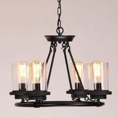 Vintage White Glass Shade Chandelier Pendant Light Kitchen Island Ceiling Lamp Metal Living Room Industrial Loft China
