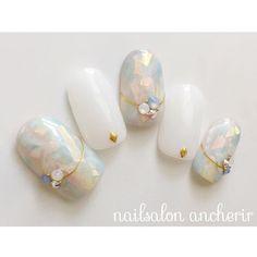 Gepostet von einem Cherir (NO: Source by HelloDanyMae Love Nails, Pretty Nails, Uñas Diy, Bridal Nail Art, Kawaii Nails, Japanese Nail Art, Luxury Nails, Creative Nails, Yukata