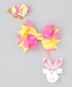 Easter Bunny Hair Bows,   zulily.com   The Hair Candy Store  not signed up for zulily click here it's free    http://www.zulily.com/invite/jvincent051