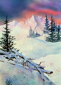 Ski View Painting - Ski View Fine Art Print Isn't this a fabulous painting!