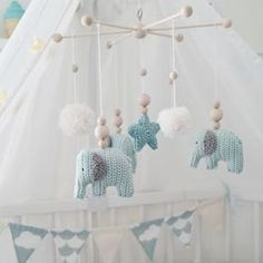 Crochet pattern elephant Whether as a mobile rattle or a small kiss . - Crochet pattern elephant Whether as a mobile rattle or a small cuddly toy, this shel - Baby Knitting Patterns, Crochet Elephant Pattern, Baby Patterns, Crochet Patterns, Jellyfish Light, Pink Jellyfish, Origami Diy, Knit Baby Dress, Diy Bebe
