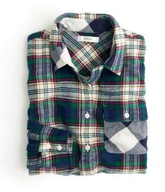 J.Crew Flannel Contrasts