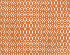 Akita Sweet Potato / Natural Fabric for curtains maybe? Orange Curtains, Orange Fabric, Drapery Fabric, Fabric Decor, Kitchen Chair Cushions, Large Floor Cushions, Fabric Board, Living Room Redo, Premier Prints