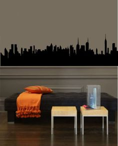 play with colors-translate to any cityscape-skyline Wall Art