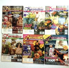 Lot 6 Vintage Decorative Woodcraft Magazines 1996 Back Issues Crafts Booklets Tole Painting On Wood Furniture