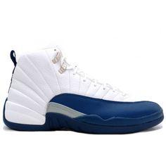 Nike Air Jordan 12 (XII) Retro- White/French Blue-Metallic Silve