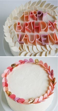 Fun lettering for cakes. This could be done with gum or Airheads.