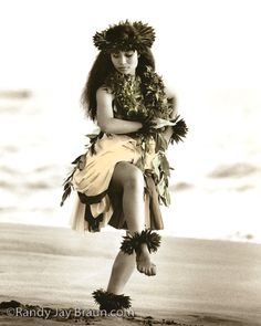 Kipu 'Ahe'ahe  Quiet Peace  #150    Haunani's serene and graceful dance reveals what made her a champion dancer at age 16. Precious leis of maile vine and palapalai ferns adorn Haunani's neck. In days of old, these plants were placed on the hula altar in honor of Laka, goddess of the hula.