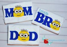 Minion Birthday  Shirt Mom  Dad  Brother  Family by bowsandgirls