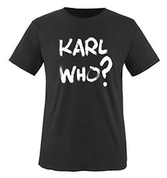 Comedy Shirts - KARL WHO? - children T-Shirt camiseta - negro / blanco tamaño 86-92 #camiseta #realidadaumentada #ideas #regalo