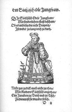 Frauen-Trachtenbuch 015.jpg A Saxon noble maiden.