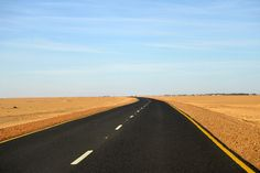Sudan's Northern Highway on the West Bank of the Nile, heading north from Old to New Dongola