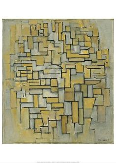 Piet Mondrian, Composition No. II, with Red and Blue, oil on canvas, 1929 (original date partly obliterated; mistakenly repainted 1925 by Mondrian). Brown Art, Brown And Grey, Ap Art History 250, Abstract Expressionism, Abstract Art, Theo Van Doesburg, Dutch Painters, Oil Painting Reproductions, Dutch Artists
