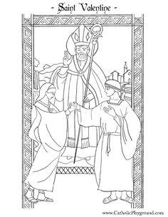 Saint Valentine Catholic coloring page for children I ...