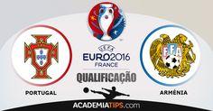 Portugal vs Arménia: Após a vitória contra a Dinamarca e o sucedido no Sérvia – Albânia que resultou numa derrota para ambas, Portugal encontra-se em muito... (ANALISE DESTE E OUTROS JOGOS CLICA NO LINK ABAIXO)  http://academiadetips.com/equipa/portugal-vs-armenia-euro-2016/