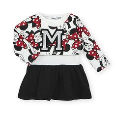 Disney Girls White Minnie Mouse Printed Top and Dress - Toddler for sale online Disney Baby Clothes, Baby Disney, Disney Girls, Cute Princess, Princess Outfits, Babies R Us, Girls Rules, Disney Dresses, Toddler Dress