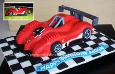 black, white and red cake for boy - Google Search