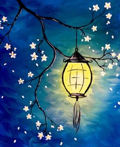 Lantern Blossom at Bar Troy - Paint Nite Events