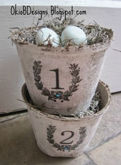 Okio B Designs: Numbered Peat Pots