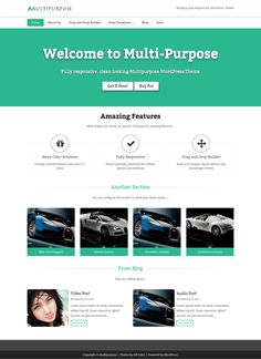 MultiPurpose 100% Responsive #wordpress theme, Highly Customizable, Unlimited color schemes and SEO Friendly Theme using Twitter Bootstrap. This theme is will make your website adaptable with any type of devices. Theme Features: Custom Homepage Settings, 3 Page Templates, Custom Background Support, Search Engine Friendly. Download: http://wpthemess.net/multipurpose/