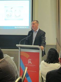 Talking about Business Succession and Exit Planning at the Chartered Accountants Australia and New Zealand event in Perth on July 26.
