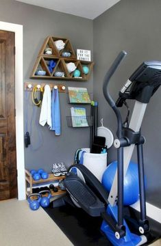 6 or 8 piece shoe rack for a peloton bike  workout room