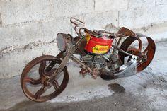 Junk Art Harley Pan Head. #utah #boutique #reclaimologists