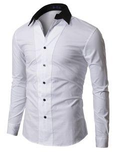 $12.00 Mens 2Tone Line Dress Shirt (XJ10)