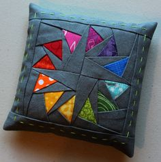 Paper pieced pin cushion