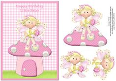 Fairy Toadstool Gingham Topper Decoupage on Craftsuprint - Add To Basket!