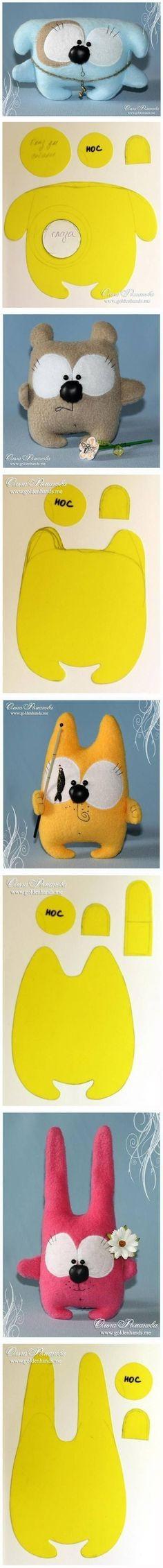 DIY Cute Fabric Toys Patterns DIY Projects / UsefulDIY.com