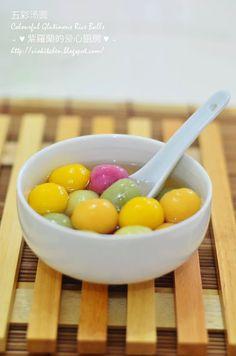 Violet's Kitchen ~♥紫羅蘭的爱心厨房♥~ : 五彩汤圆 Colourful Glutinous Rice Balls