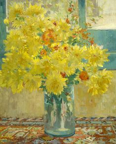 Colin Campbell Cooper (1856-1937)  Yellow Chrysanthemums