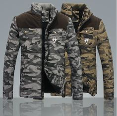 Men's ultra light army style jacket with inner fur...$60