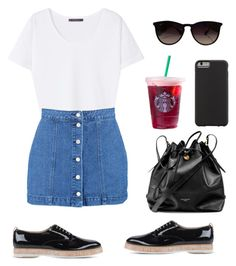 """""""hey⭐"""" by laurindomari on Polyvore featuring Violeta by Mango, Boohoo, Attilio Giusti Leombruni, Aspinal of London, Ray-Ban and Case-Mate"""