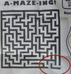 Whoever Created This Maze, Made It So Easy