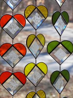 Stained Glass Heart Strings by ChapmanStainedGlass on Etsy