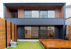 Modern single family home. Zen House, Thai House, Residential Architecture, Architecture Design, Container Van House, Japanese Modern House, Terrace Design, House Paint Exterior, Dream House Plans