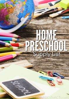 With just a few minutes a day and some basic supplies, you can teach your preschooler everything they need to know, right at home! This home preschool supply list can help get you started!