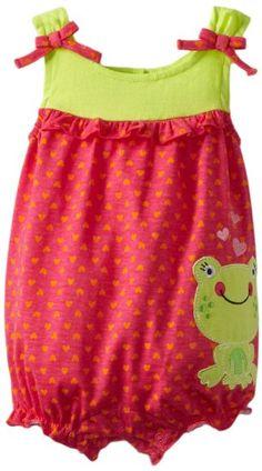 Amazon.com: Baby Togs Baby-girls Newborn Heart Print Frog Knit Romper: Clothing