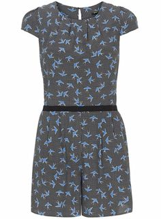 Doll and Frog Bird Playsuit - Rompers & Jumpsuits  - Dresses