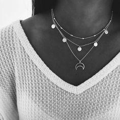 Stylish Jewelry, Cute Jewelry, Boho Jewelry, Jewelery, Silver Jewelry, Jewelry Accessories, Jewelry Necklaces, Fashion Necklace, Fashion Jewelry