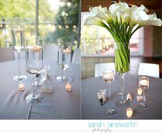 Sarah Ainsworth Photography - Calla lily centerpiece The Grove Houston, TX