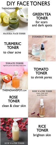 Deep clean pores and control excess oil with natural ingredients that can be used as a toner for a clear skin. Natural homemade toners will tighten pores and refresh skin leaving your skin clear, soft Belleza Diy, Tips Belleza, Beauty Care, Diy Beauty, Beauty Tips, Beauty Hacks, Beauty Skin, Beauty Products, Homemade Beauty