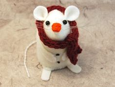 Jack the Snowmouse - cute felt christmas mouse ornament by TheHouseofMouse