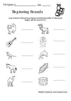 TeacherLingo.com $2.00 - Kidzpark Kindergarten Worksheets Volume 1 contains a set of 100 worksheets for kindergarten children. The worksheet focuses on the child